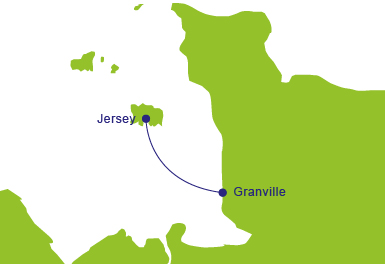Ferries to Granville - Map of Routes